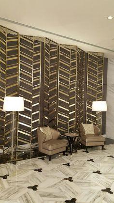 Modern Art Deco screen pattern
