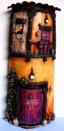 La 20casita $ $ $ 20de 20pajaros $ 2B $ 2B (218x448, 32Kb) Pottery Houses, Decoupage, Gnome House, Fairy Houses, Doll Houses, Polymer Clay Miniatures, Fairy Doors, Woodland Creatures, Miniature Houses