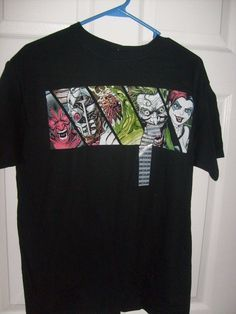 DC COMIC FOREVER EVIL VILLAINS SHORT SLEEVE MEN'S SIZE MEDIUM BLACK T SHIRT NEW  #SPENCERS #GraphicTee