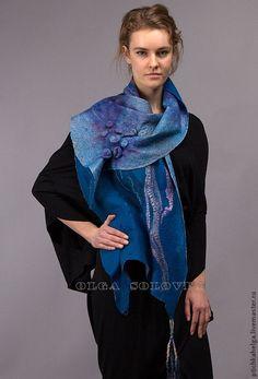 шарф ВОДА - авторская ручная работа,войлок ручной работы