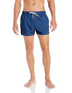 2xist Mens Ibiza Solid Swim Trunks Estate Blue Medium * Find out more by clicking the image