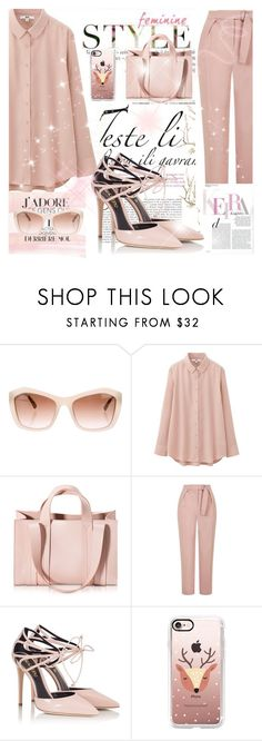 """Untitled #1095"" by betty-hs ❤ liked on Polyvore featuring Chanel, Uniqlo, Corto Moltedo, Topshop, Fratelli Karida, Casetify and Pixie"