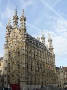 The architecture in Leuven Belgium is impressive, wonderfully encapsulated in this town edifice