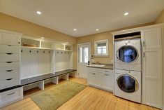 This laundry room/ mud room is so practical. It's the perfect place to drop everything when you get in at the end of the day.