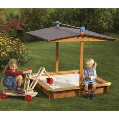 Kid's Wooden Sandbox
