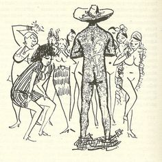 Cem anos de solidão (GGMarquez) Jose Arcádio volta todo tatuado - Por Carybé