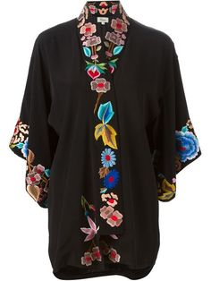 Temperley London kaftan bordado estilo kimono en Elite.