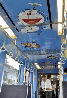 In Toyama (where Fujiko Fujio was born) a Doraemon train was unveiled. ~ wish i can hop in here and have a long long travel ;)