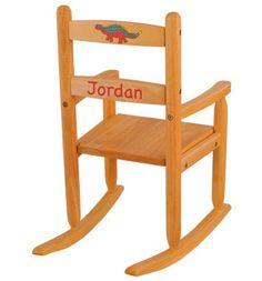 Kidu0027s Love This Adorable 2 Slat Personalized Rocking Chair. Shown In Honey  Finish.