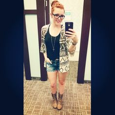 Aye, Friday's #ootd #maurices #first15 #store1669 #militaryboots #kimono