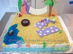 Life is Beachy - 4th of July Cake