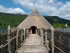 This is the Crannog Centre [www.crannog.co.uk] in Fearnan, Scotland, an early Iron Age reconstruction based on excavations of a 2,500 year old crannog.