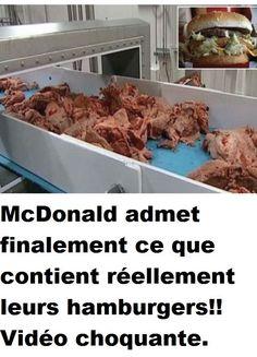 McDonald admet finalement ce que contient réellement leurs hamburgers!! Vidéo choquante.