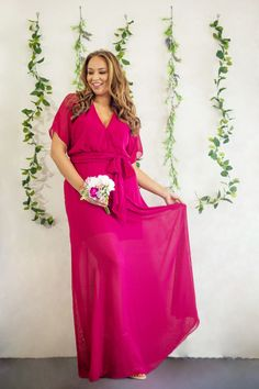 This ultra chic wrap dress combines style and comfort, allowing you to dance through the night. Berry Bridesmaid Dresses, Affordable Bridesmaid Dresses, Wrap Dress, Dance, Formal, Chic, Lady, Wedding, Collection