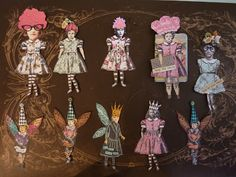 Artful Play: An Altered Paper Doll Day.  Connie Fong and her sisters.