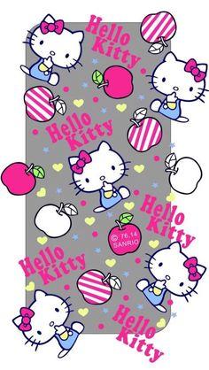 Phone Wallpaper Pink, Sanrio Wallpaper, Hello Kitty Wallpaper, Apple Wallpaper, Hello Kitty Art, Hello Kitty Coloring, Hello Kitty Items, Hello Kitty Pictures, Kitty Images