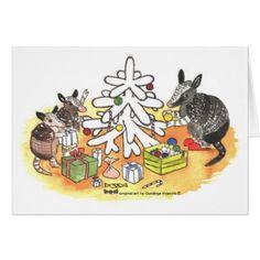 Armadillo Christmas Card - christmas cards merry xmas diy cyo greetings