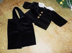 Puppenkleidung-Samt-Hose-Samt-Jacke-Samtanzug-schwarz-Schildkroetpuppe-64