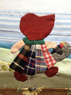 Sunbonnet Sue - love the patchwork dress!