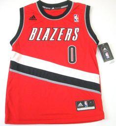 Damian Lillard #0 Portland Trail Blazers NBA Adidas Basketball Youth Jersey Red (Youth Large (Size 14-16)) - http://hoopsternation.com/damian-lillard-0-portland-trail-blazers-nba-adidas-basketball-youth-jersey-red-youth-large-size-14-16/