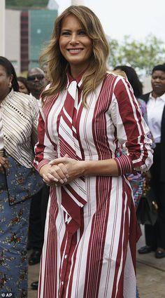First Lady Melania Trump, Ghana, Melania Knauss Trump, First Lady Melania Trump, Trump Melania, Donald And Melania, Trump Is My President, Standing Poses, Beautiful One, Beautiful People, Fashion Models