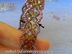 www.miscreacionesconabalorios.es: Como hacer una pulsera sin cierre.