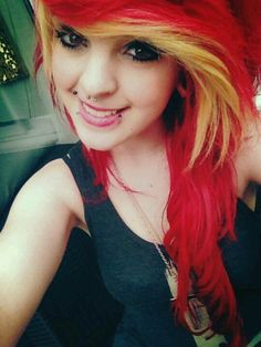 Red and gold/blonde hair