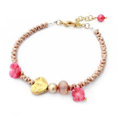 Armband Farfalle Pink - Luxe fijne armband van Tsjechische glaskralen - Marlouchi Bijoux #Armbanden #Bracelets #Sieraden - www.Mbijoux.nl