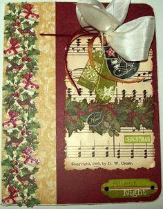 traditional   Christmas Card - Silent Night - Scrapbook.com