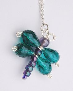 Dragonfly Necklace - this one is for sale but looks easy enough to make!