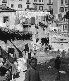 Children at play in Cortile Cascino, an impoverished area of Palermo in Sicily, circa 1955.