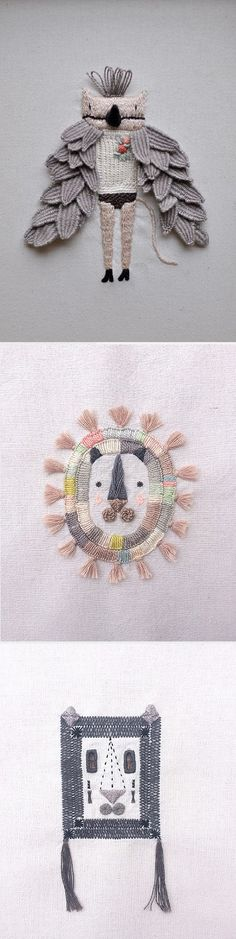 Embroidery by Miga de Pan / On the Blog!