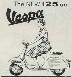 Vintage ad for Vespa