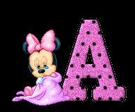 Alfabeto de Minnie bebé llorando.