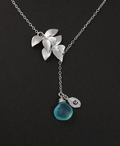 Sterling Silver Jewelry - Exquisite Gemstone Necklace with Choice of Stone & Initial