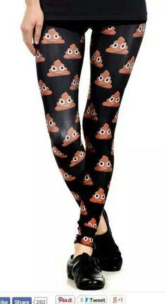 Poop emoji leggings