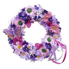 Tavaszi kopogtató apró virágokkal Floral Wreath, Wreaths, Decor, Floral Crown, Decoration, Door Wreaths, Deco Mesh Wreaths, Decorating, Floral Arrangements