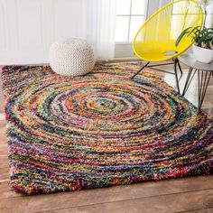 Give color a whirl with this mesmerizing swirl shag rug. | 27 Of The Best Rugs You Can Get On Amazon
