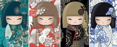 "✿ Kimmidoll Illustration ~ ""Yoshiko - Michi - Hiro - Kyoka"" ✿"