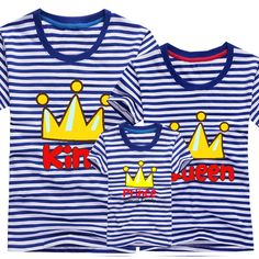 2017 Fashion Family Mother & kidsT-shirt Boys Girls Crown 13 Color T Shirt Plus Size Mom & Me Father and Son Suits Mother Father