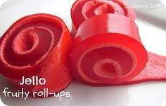 Jello Fruity Roll-Ups Recipe | Six Sisters Stuff