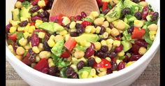 Black Bean and Corn Salad I Black Bean and Corn Salad I cup balsamic vinaigrette salad dressing teaspoon seasoned pe. Sweet Bell Peppers, Peppers And Onions, Green Onions, Red Peppers, Rice Salad, Bean Salad, Corn Salads, Easy Salads, Healthy Salads