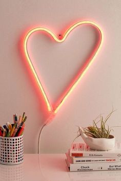 How cute is this LED heart sign?