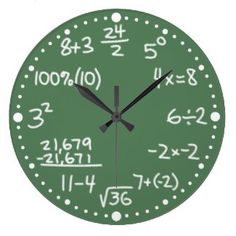 Math Clock  http://www.courtreportingbabe.com/court-reporter-gifts.html
