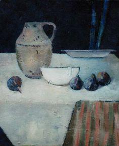 La tasse blanche. Numéro 15. Huile sur toile. 1997.  BENEDICTE GARNIER FIHEY