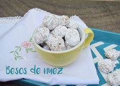 Te doy la receta para hacer los mejores besos de nuez, con fotos paso a paso. Cereal, Oatmeal, Breakfast, Lolly Cake, Step By Step, Pictures, The Oatmeal, Morning Coffee