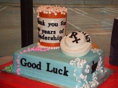 Pharmacy retirement cake