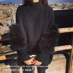Winter turtleneck lantern fur sleeves knitting pullover elastic fashion women warm sweater (ONE SIZE) 69.99 CAD Tunic Sweater, Long Sleeve Sweater, Pullover Sweaters, Loose Sweater, Batwing Sleeve, Women's Sweaters, Winter Sweaters, Black Sweaters, Sweaters For Women