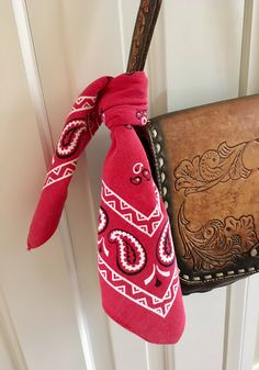 The Perfect Vintage Red Bandana