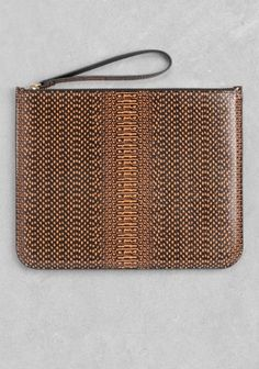 & Other Stories | Reptile Texture Leather Clutch